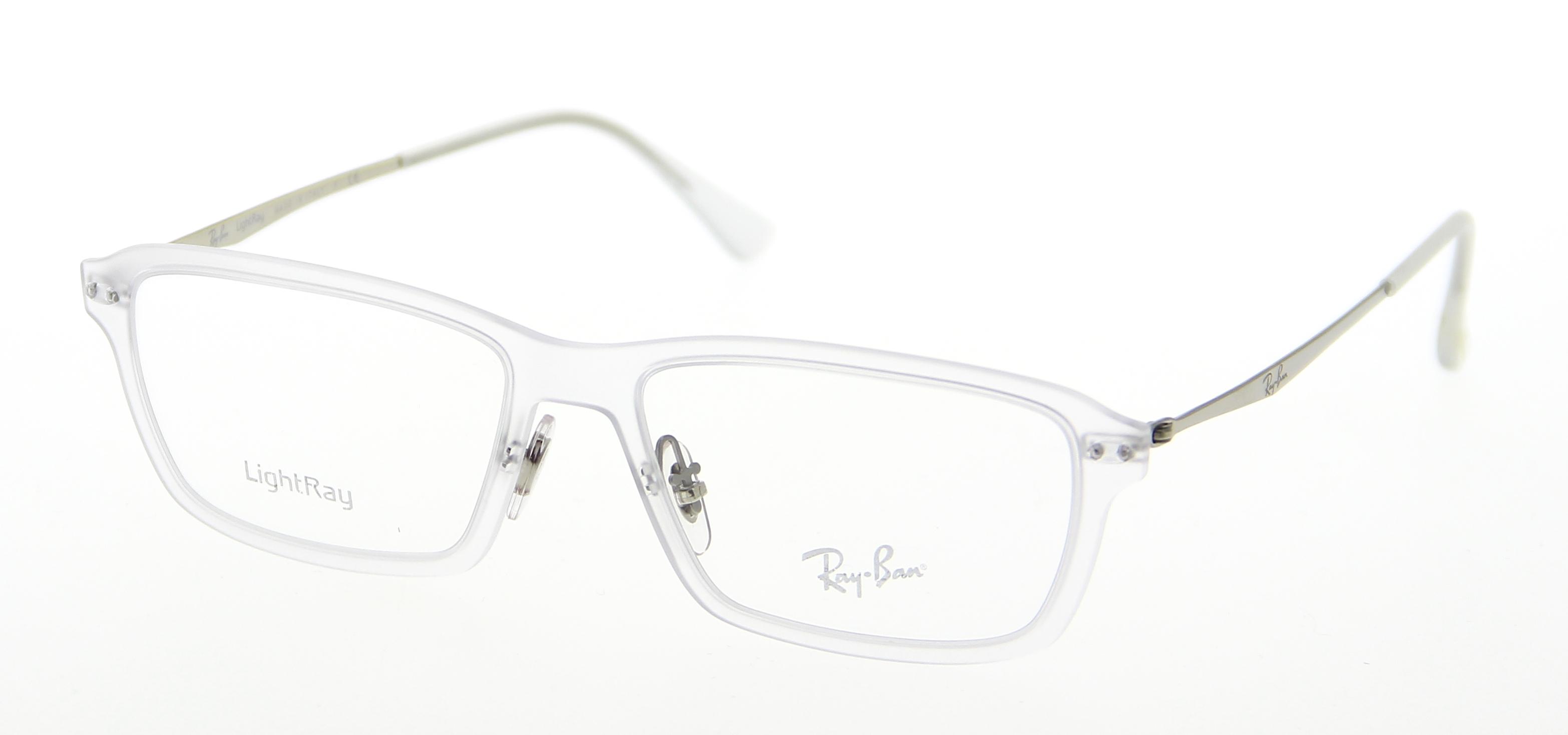 lunettes de vue ray ban rx 7038 5452 55 16 homme transparente rectangle cercl e tendance. Black Bedroom Furniture Sets. Home Design Ideas